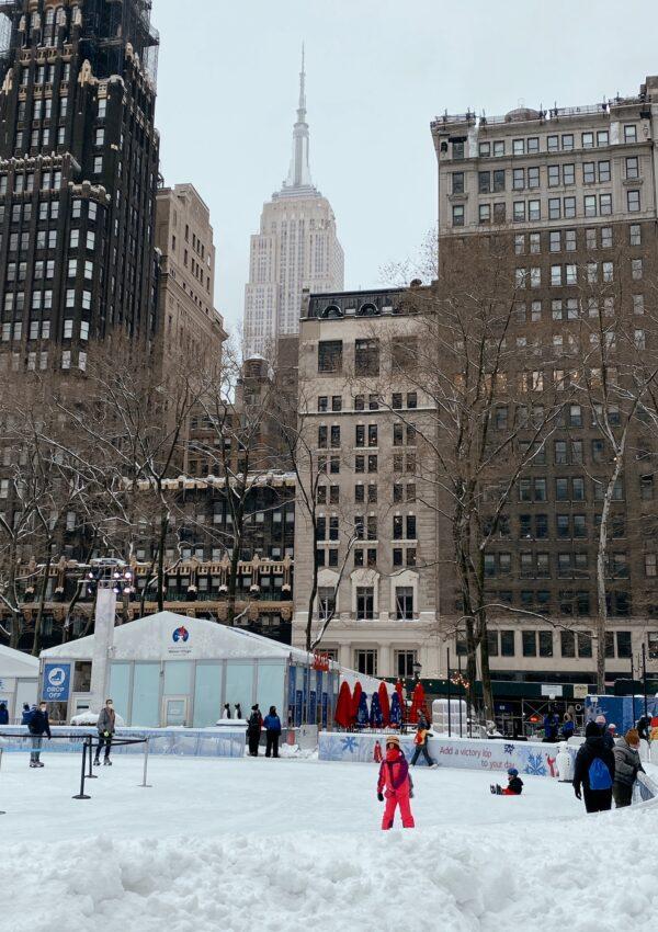 Las pistas de patinaje sobre hielo en Nueva York