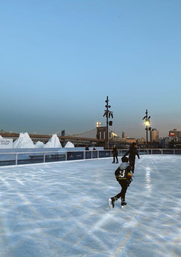 La nueva pista de patinaje sobre hielo en Nueva York