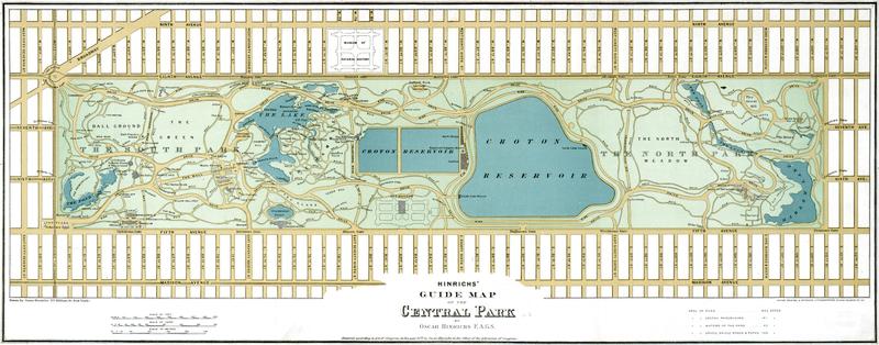 Mapa de Central Park de 1875